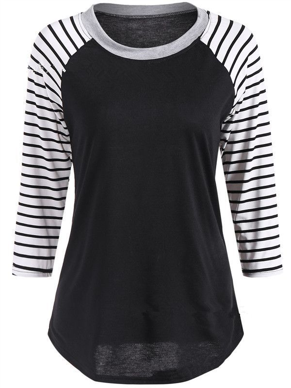 38afb8ca9ac9 Long Sleeve Striped Round neck Top   shirts   Trendy clothes for ...