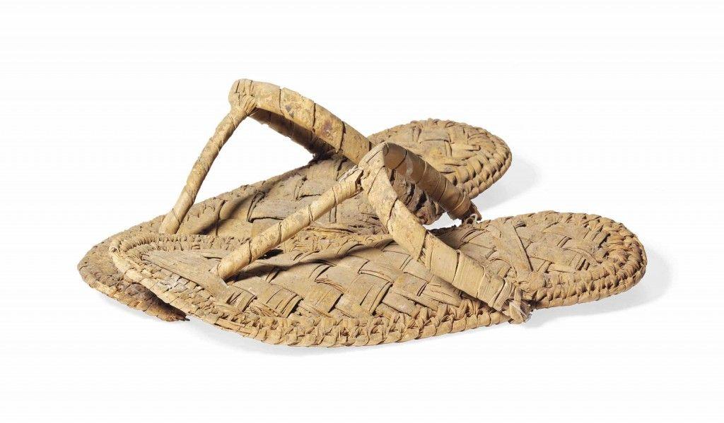 55a05ea9f7a3 Egyptian Plaited Palm Leaf Sandals. New Kingdom