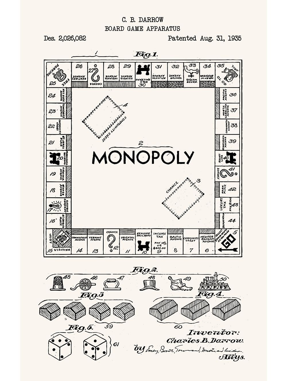 Monopoly products pinterest monopoly monopoly patent print monopoly blueprint art by theplayfulpixel malvernweather Image collections
