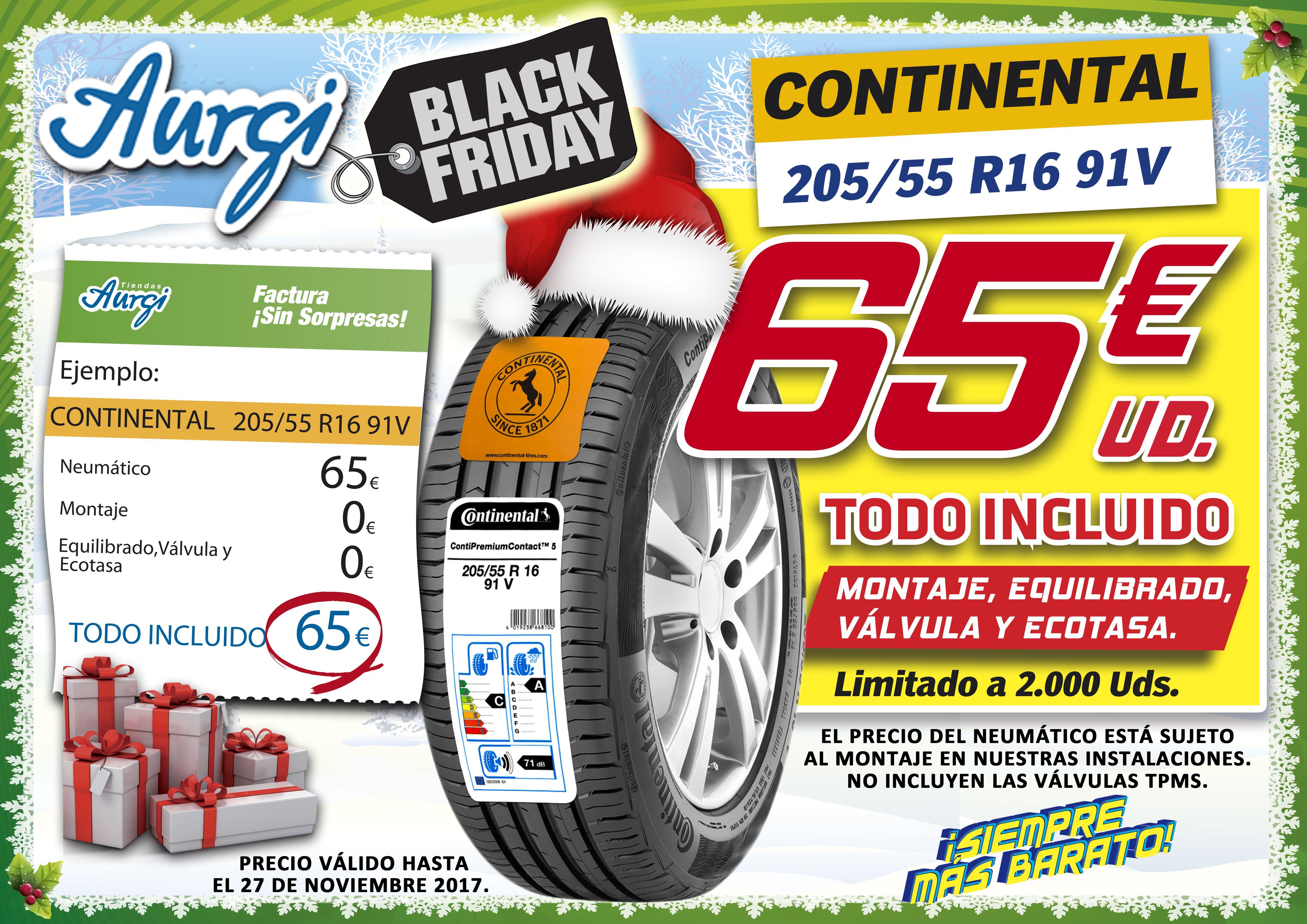 Oferta Aurgi Black Friday Neumatico Continental 205 55 R16 91v Al