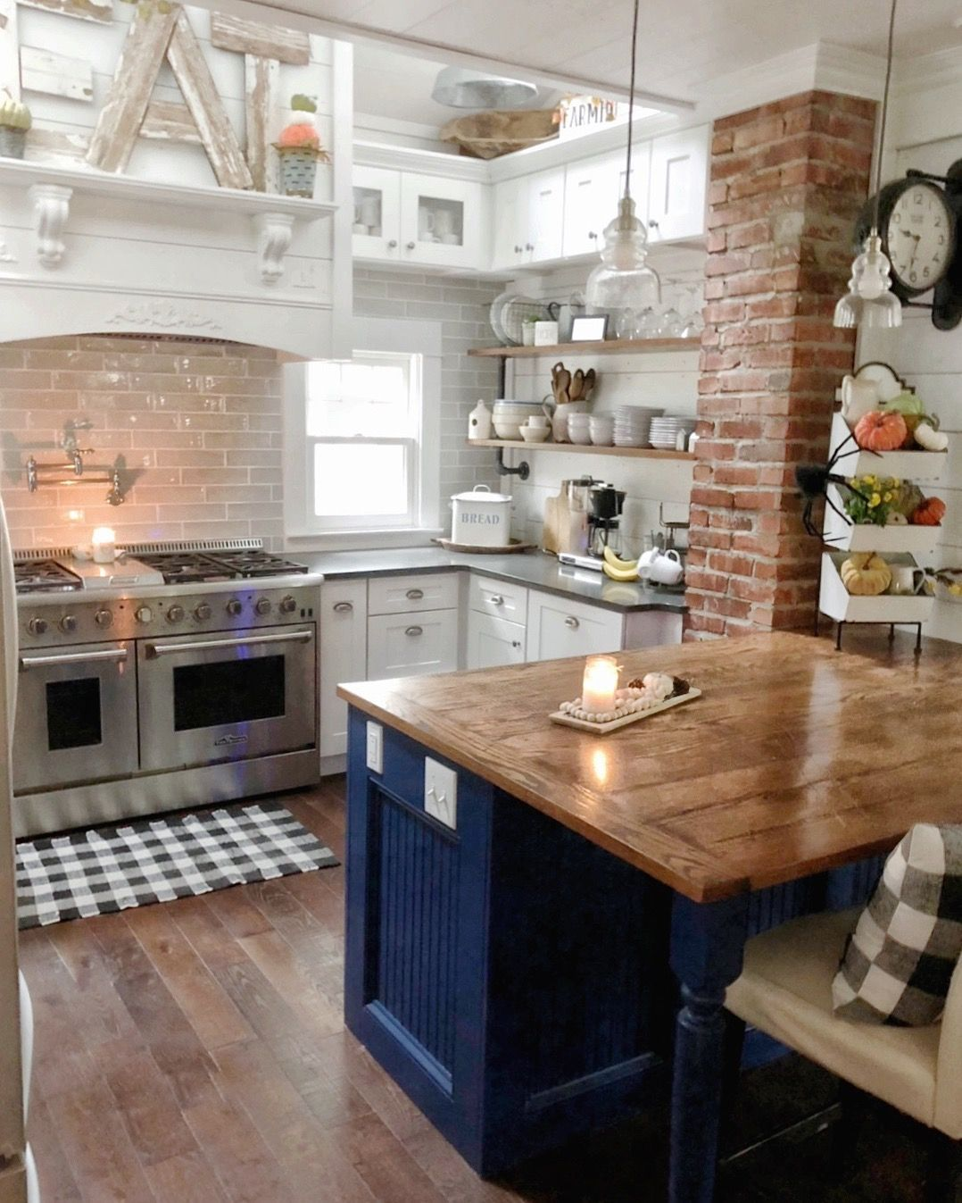 the pickled rose farmhouse kitchen island brick diykitchenisland farmhouse kitchen on farmhouse kitchen small id=24977