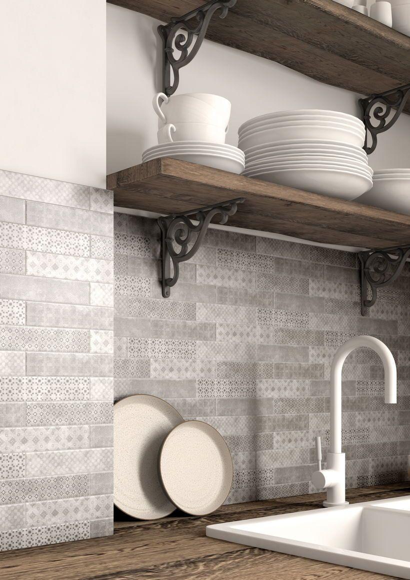 Mosaico cucina grigio   Piastrelle decorative, Piastrelle e ...