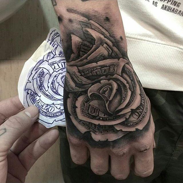 7af886f0b2aad Rosa de dólar Rosa de dolar | tattoos | Hand tattoos, Sleeve tattoos ...