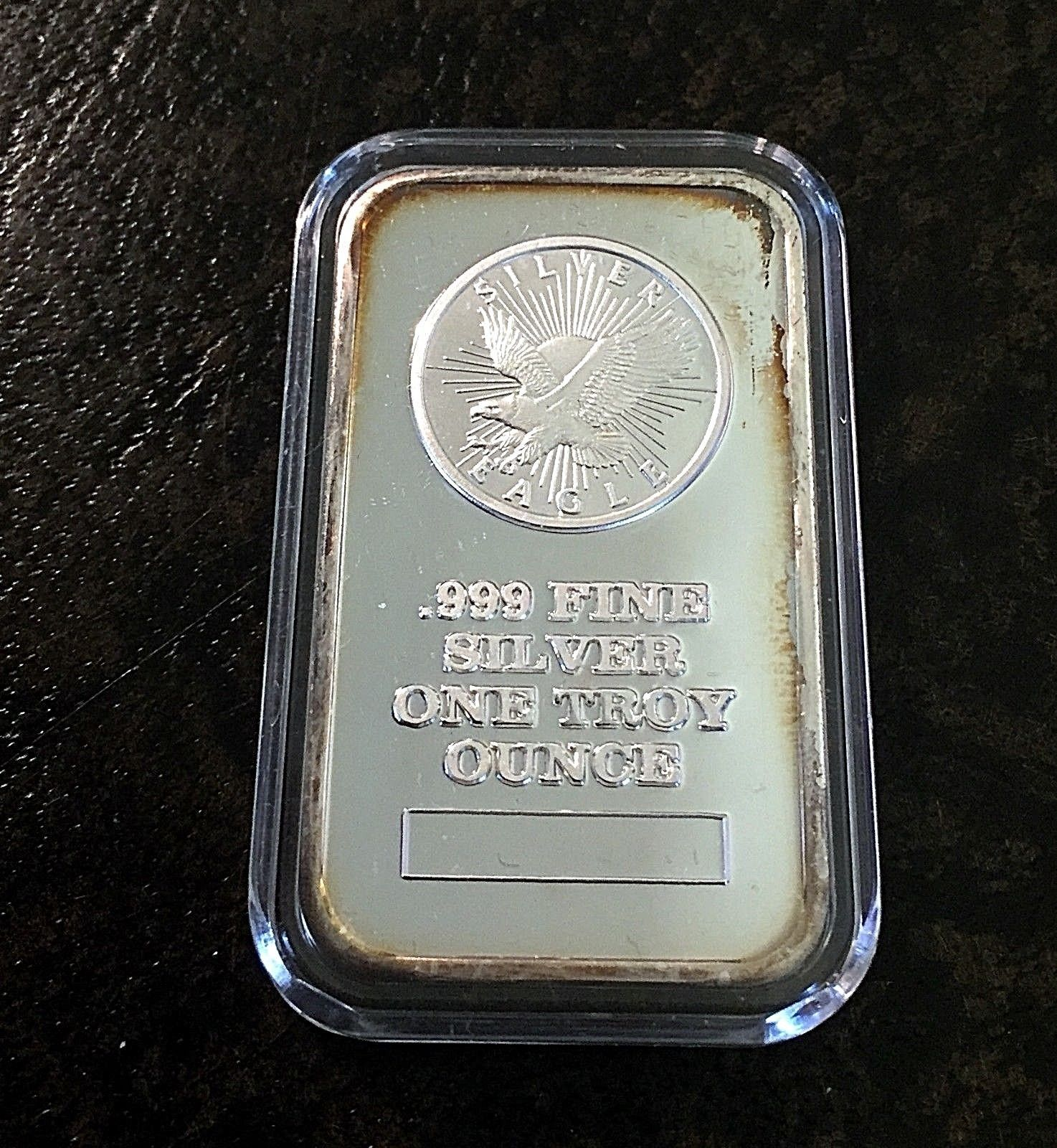 Vintage Silver Eagle Bar 999 Silver 1 Troy Ounce Sunshine Minting Sealed Ebay Vintage Silver Silver Eagles Silver Bars