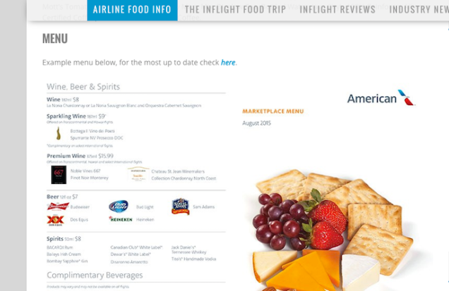 Inflightfeed Tells You What to Expect From InFlight Food