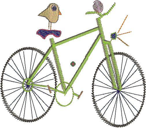roetsch kostenlose fahrrad stickdatei fahrrad freebie. Black Bedroom Furniture Sets. Home Design Ideas