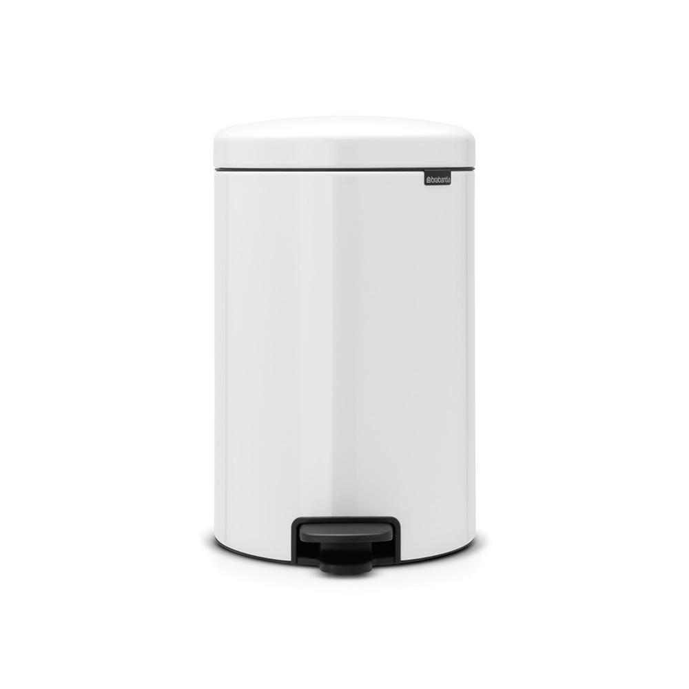Brabantia 5 3 Gal White Steel Step On Trash Can 111846 Brabantia Trash Can Trash