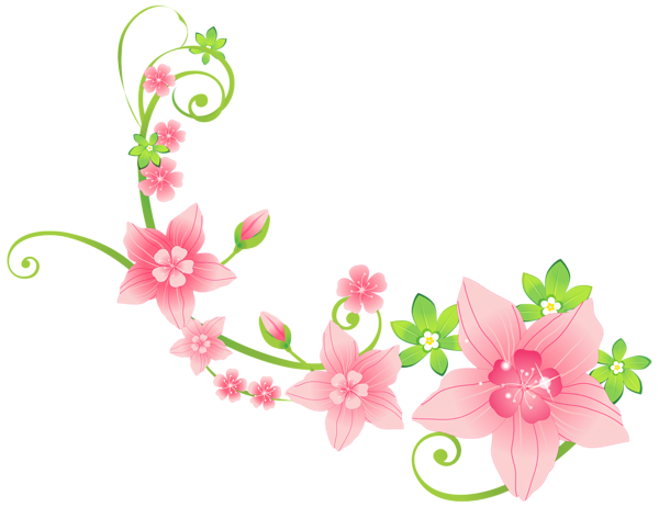 Floral Decorations pink floral decoration png clip-art image | flowers | pinterest