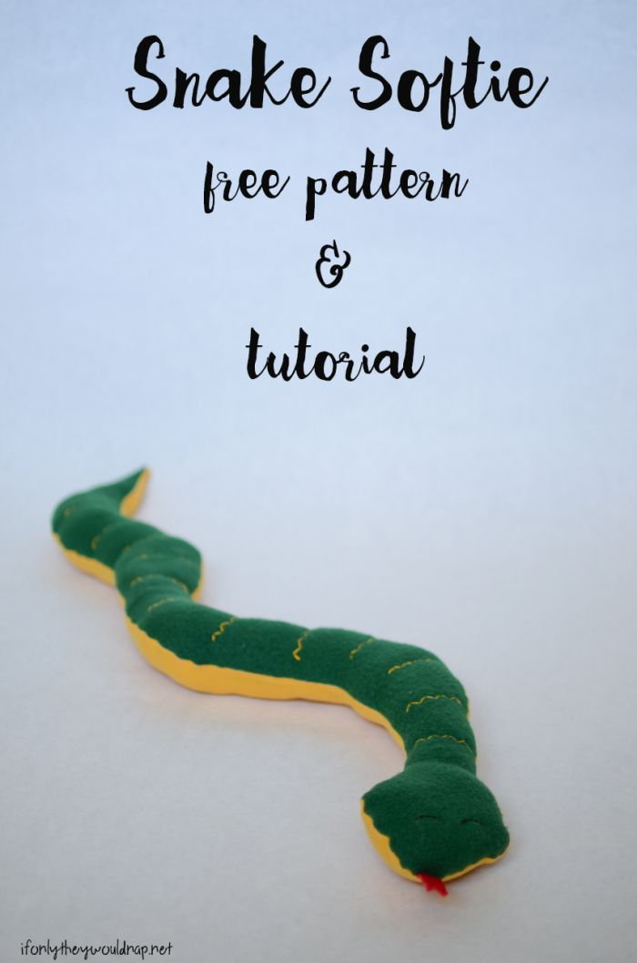 Snake softie free pattern and tutorial  Free Sewing Patterns  Snake Sewing patterns free