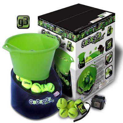 Godoggo Automatic Tennis Ball Thrower Fetch Dog Toy Launcher Interactive Dog Toys Ball