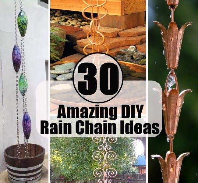 57 Amazing Beautiful Garden Ideas Inspiration And: 30 Amazing DIY Rain Chain Ideas