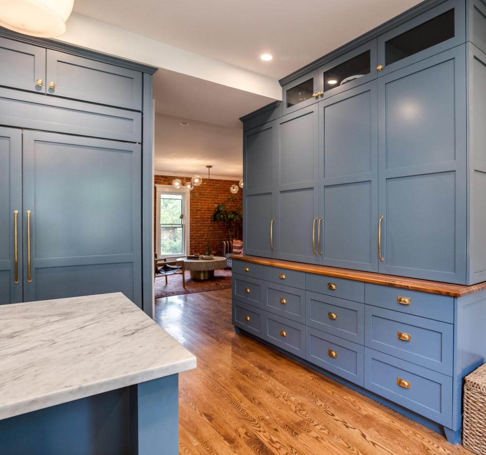 Historic Boulder Kitchen Remodel Jm Kitchen And Bath In 2020 Kitchen Remodel Kitchen And Bath Blue Painted Cabinets