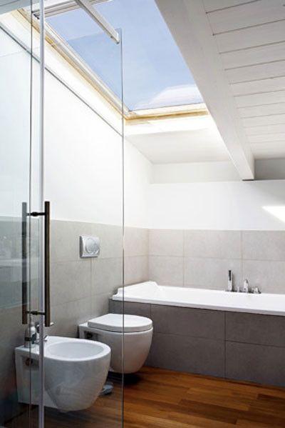 Okno Dachowe Do łazienki Ideas For The Attic Bathroom In