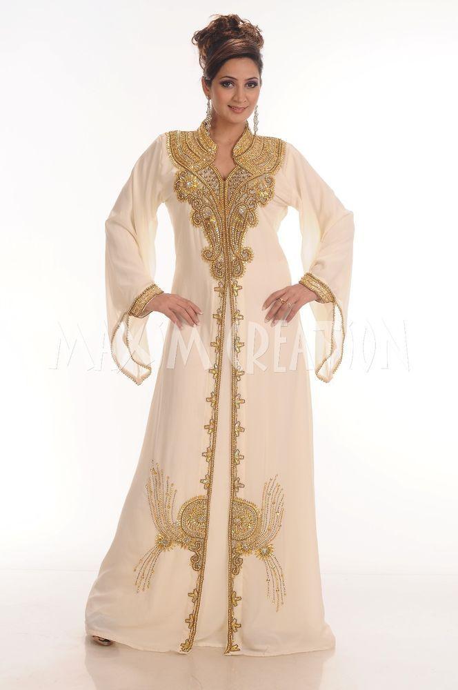 Kaftan Abaya Jalabiya Jilbab Fancy Ladies Islamic Maxi Dress