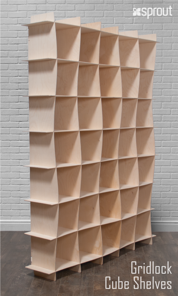 These Large Baltic Birch Bookcases Combine The Natural Beauty Of Raw Wood With Graceful