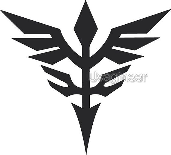 Gundam Neo Zeon Macbook Decal Vinyl Sticker Laptop Windows on Etsy, $4.00 Visit Usagineer.com #Decal #Sticker #Vinyl #usagineer