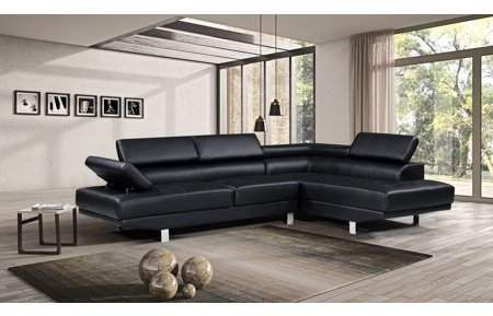 Harper Bright Designs Modern Faux Leather Sectional Sofa With