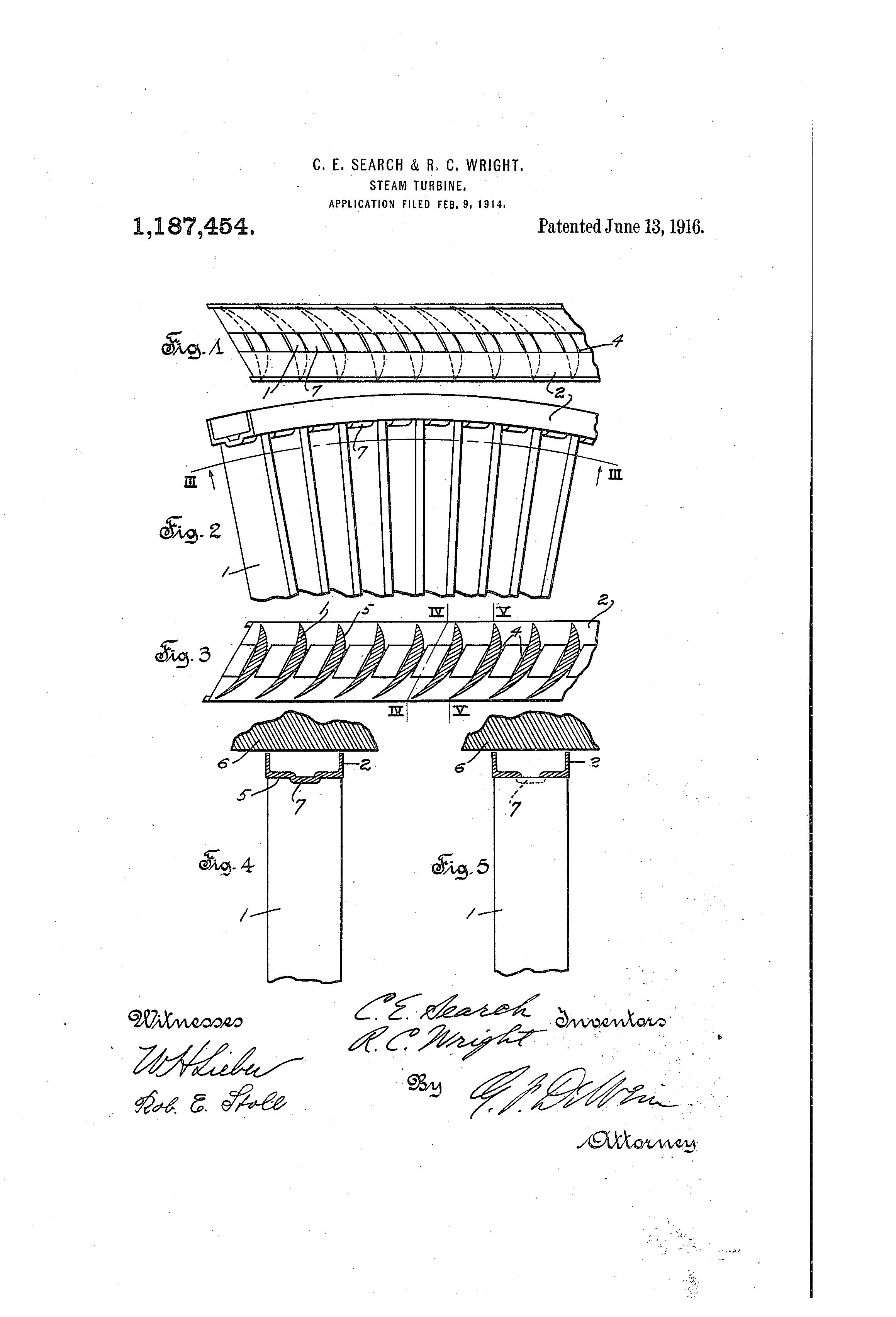 Patent US Steam turbine
