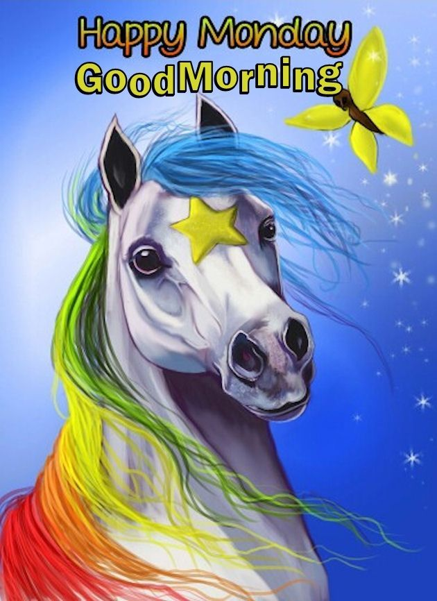 Unicorn Happy Monday Good Morning Rainbow Brite Unicorn Art Art