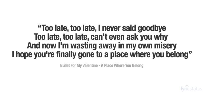 Bullet For My Valentine - A Place Where You Belong [HQ ...