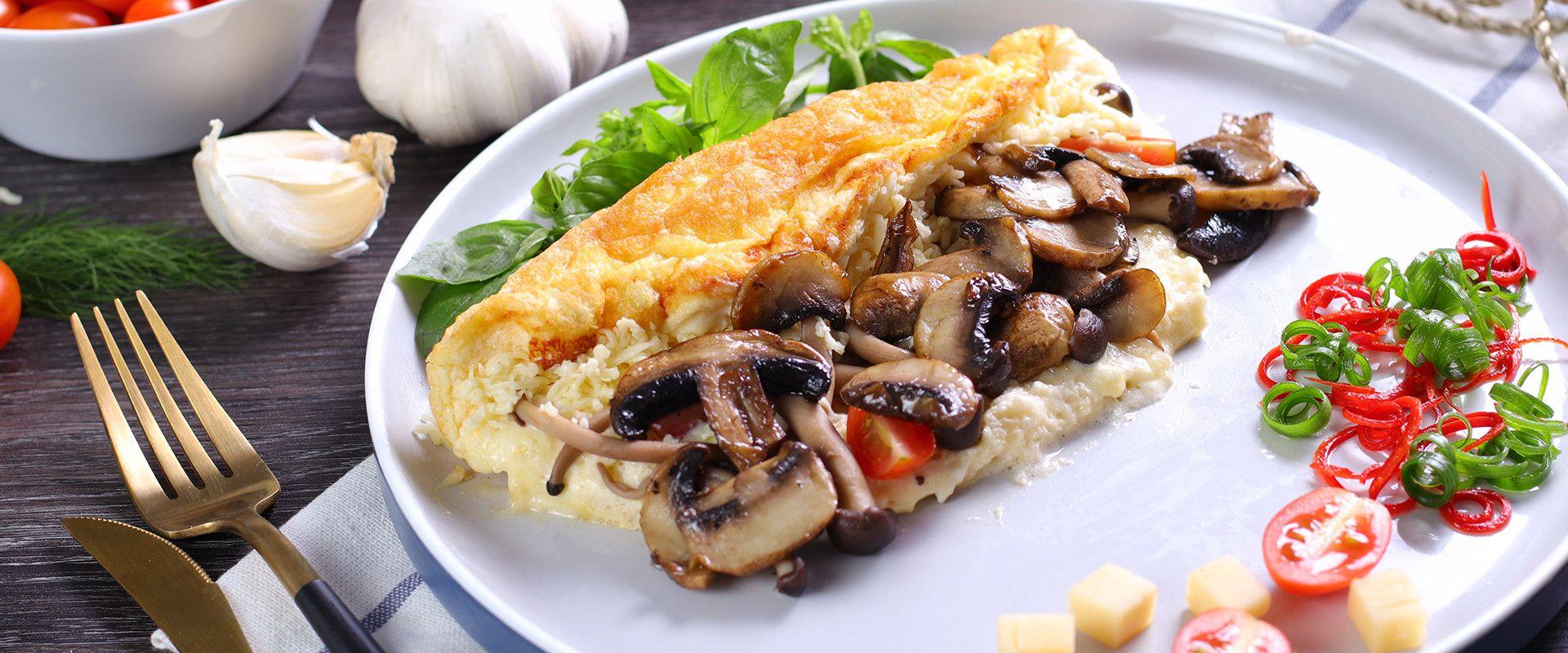 Cheese Soufle Omelet Dapur Keju Prochiz Telur Dadar Keju Masakan