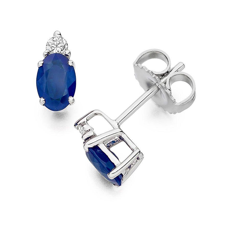 I Love This Diamond And Blue Sapphire Stud Earrings On Vashi #vashi