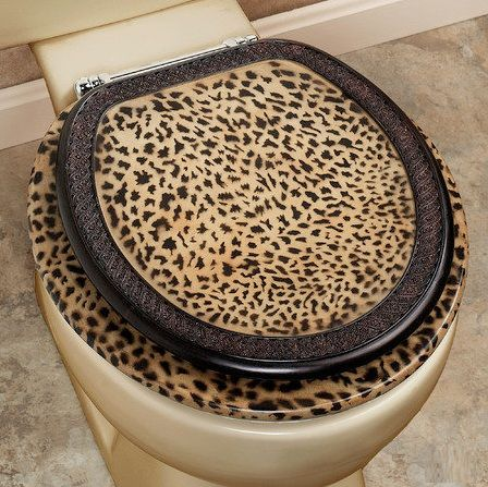 Cheetah Themed Rooms Bathroom Set Toilet Seat Beautiful Animal