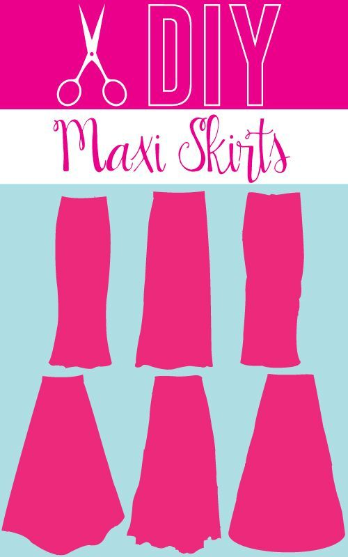 DIY Maxi Skirt Tutorials   Rock, Maxiröcke und Nähen