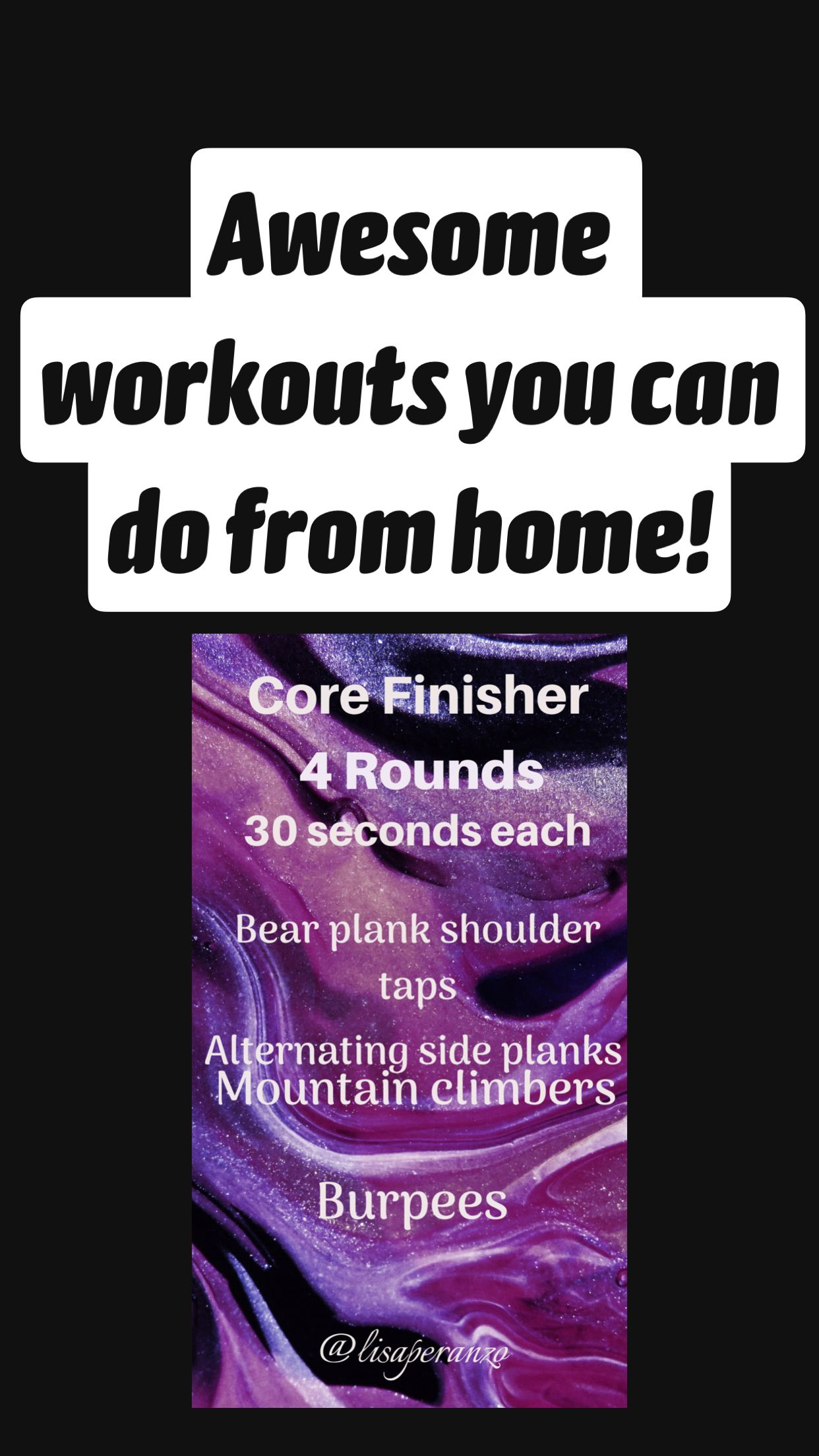 Awesome workouts you can do from home!