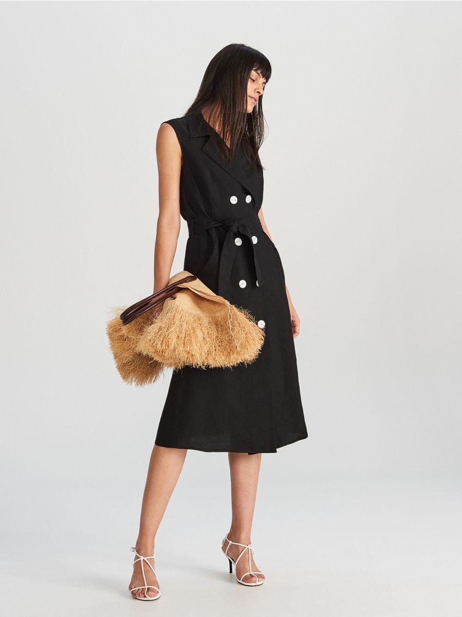 Cumpără Astăzi Online Rochie Pentru Femei Reserved Wq883 99x Womens Dresses Dresses Linen Blend