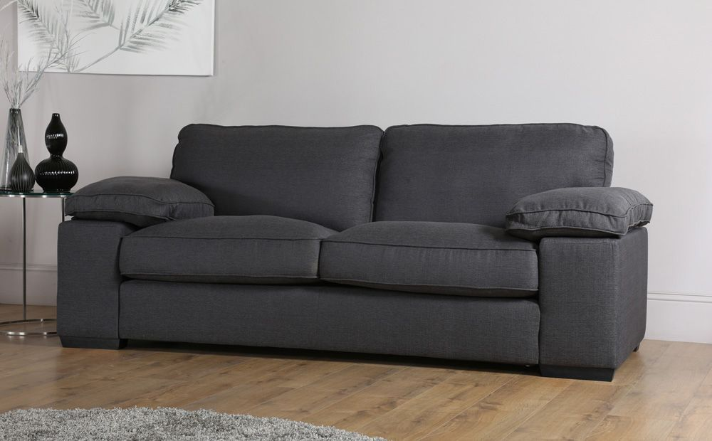 Buoyant Cie Costa Charcoal Fabric Sofa Suite 3 2 Seater