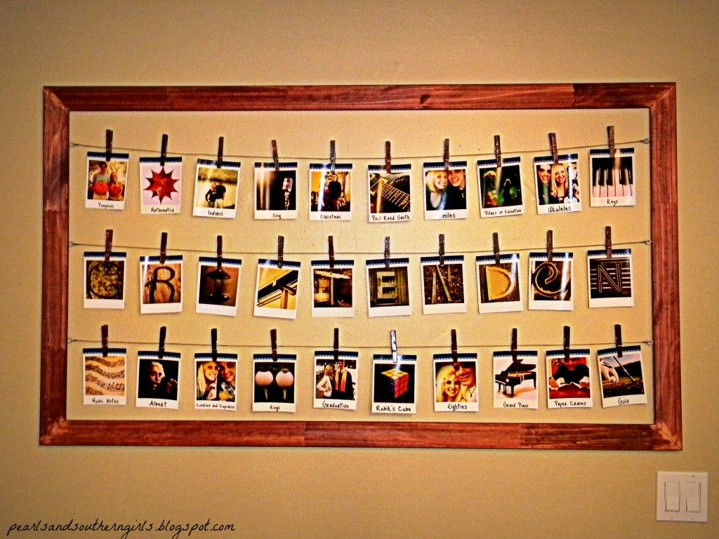collage diy polaroid wall frame