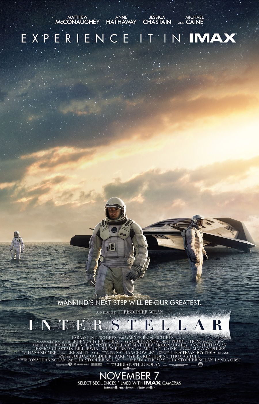 Poster from the movie Interstellar.
