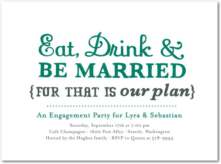 Chic Engagement Party Invitations Wedding Stationery Wednesday - family gathering invitation wording