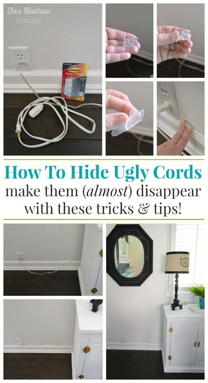 How To Hide Unsightly Lamp Cords Foxhollowcottage Damagefreediy Sp Organize Cottagefox