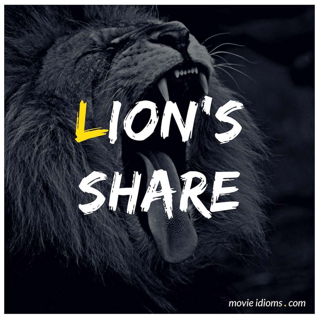 Lion S Share Idiom Idioms Lions English Idioms