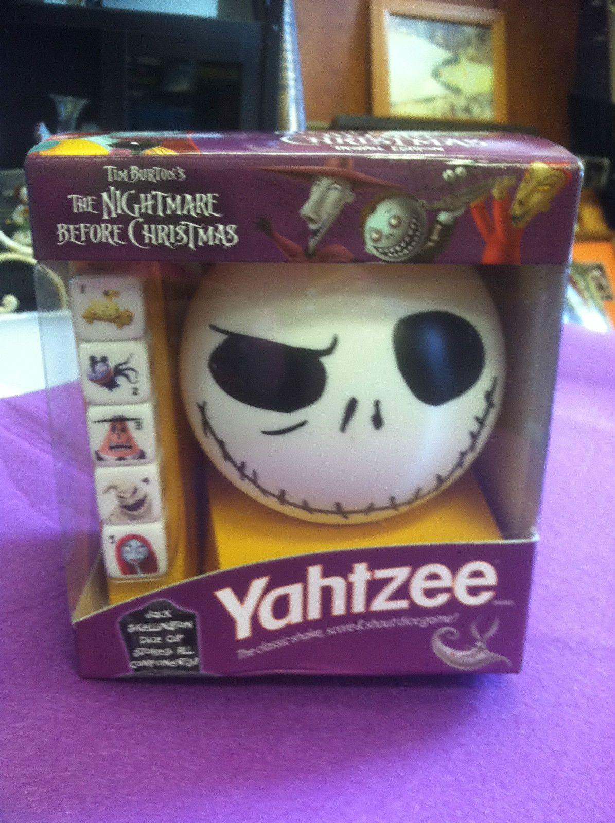 Yahtzee Tim Burton\'s The Nightmare Before Christmas Dice Game Brand ...