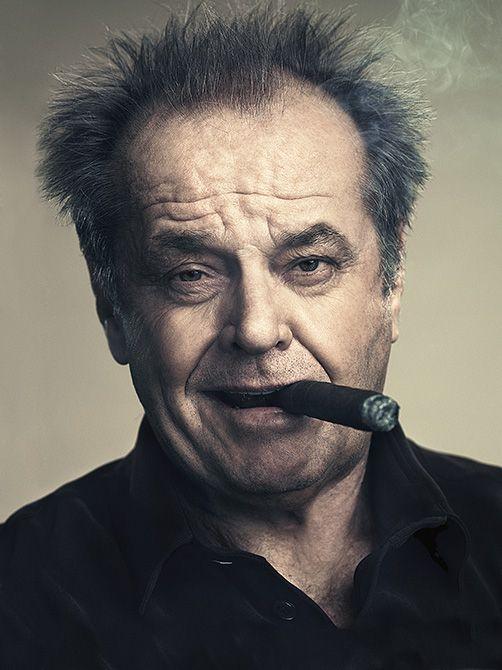 Jack Nicholson Smoking a Cigar Picture