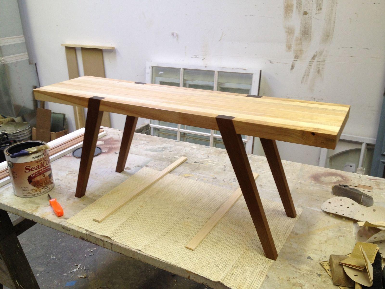 Wonderful Furniture Custom Diy Handmade Butcher Block Computer Desk
