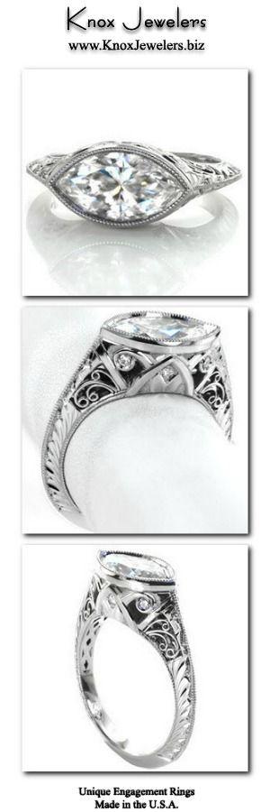Design 2938 Hand Engraved Engagement Rings Unique Engagement Rings Engagement Rings