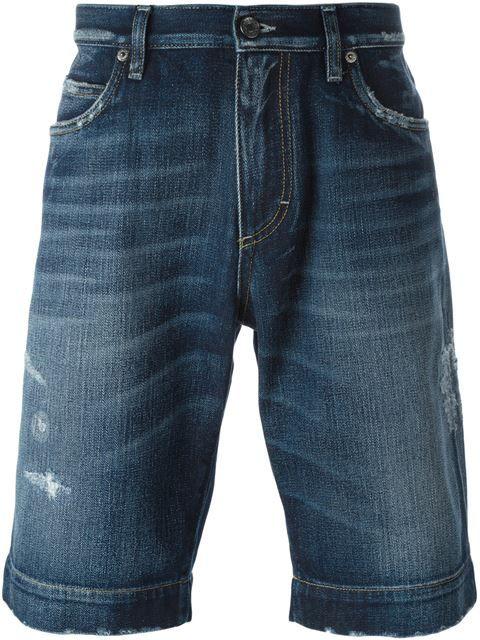 DOLCE   GABBANA Distressed Denim Shorts.  dolcegabbana  cloth  shorts 5cc6c89b5739
