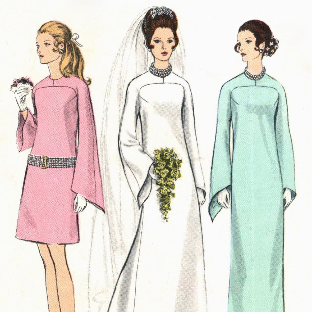Early s wedding dress u headpiece pattern vogue bridal design