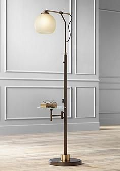 Jobe Floor Lamp With Tray Table And Usb Port
