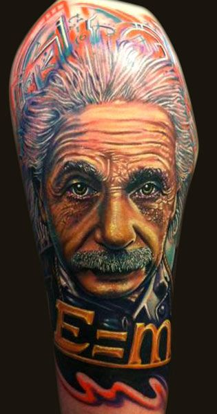 Einstein Tattoo By Roman Abrego Post 2969 Celebrity Tattoos Tattoos Tattoos Gallery