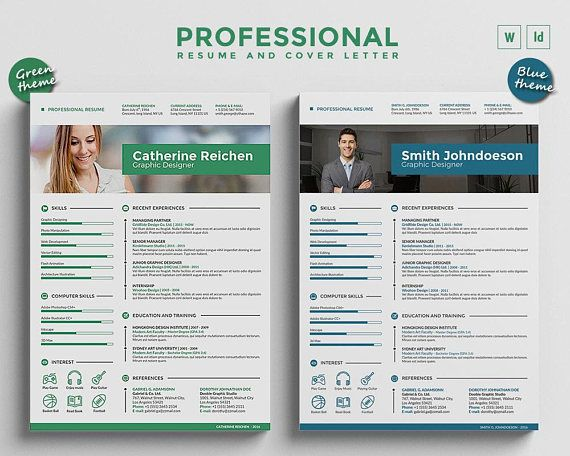 modern resume template    cv template bundle  3 curriculum vitae design   cover letter in ms word