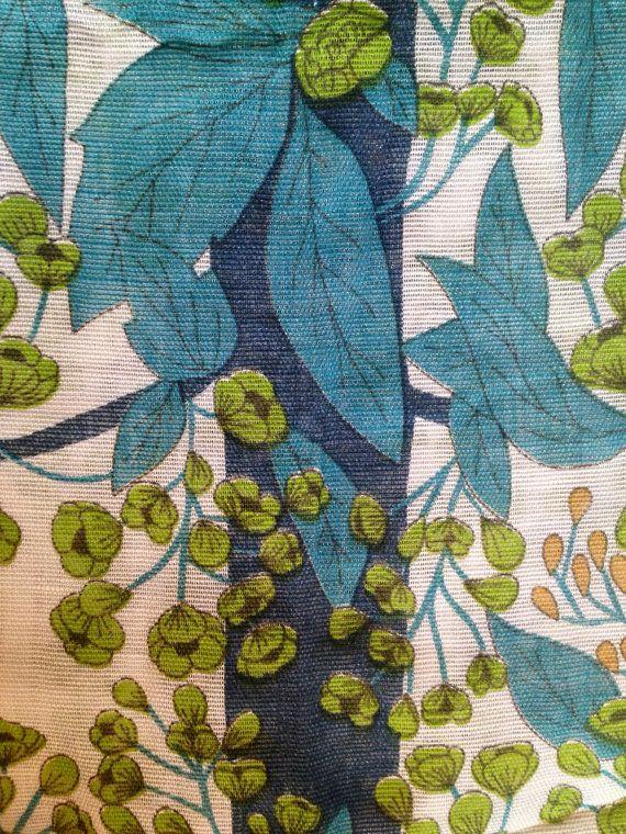 Swedish 60s Vintage Fabulous Fabric Scandinavian Design Perfect Condition Scandinavian Textiles Fabric Decor Scandinavian Design