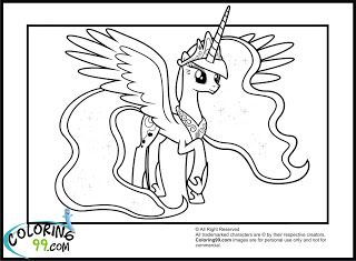 My Little Pony Princess Luna Coloring Pages Princess Coloring
