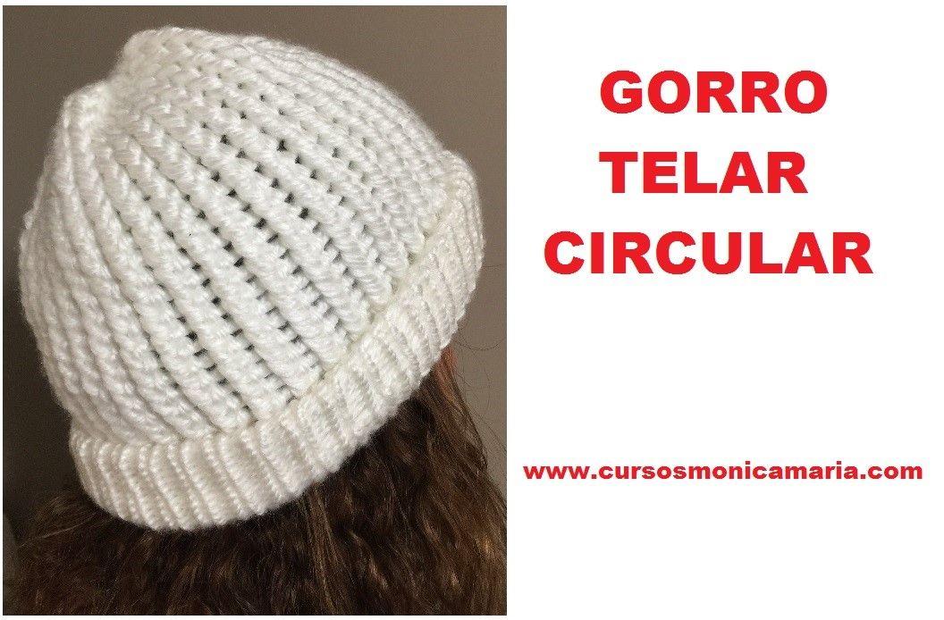 GORRO BLANCO TELAR CIRCULAR// Tutorial paso a paso | telar ...