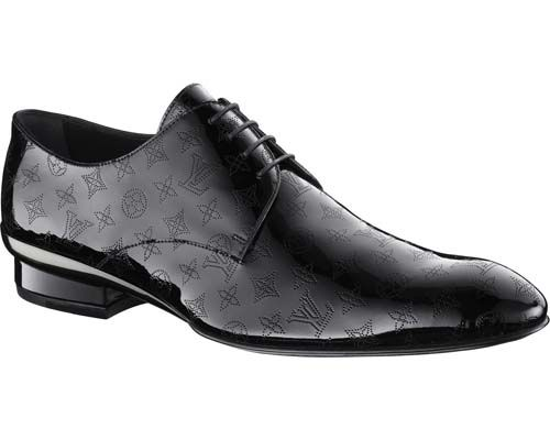 Louis Vuitton Men S Curacao Lace Up In Monogram Perforated Patent