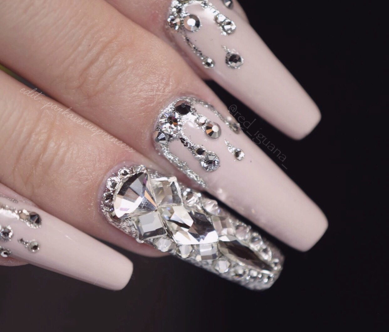 Broke Girl With Expensive Taste Bling Nails Glamour Nails Luxury Nails